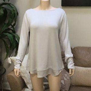 Lands' end comfy soft sweater size 10 12 split bac